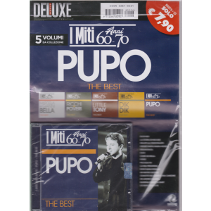 Saifam Music Deluxe Cd Pupo - I miti anni 60-70 - The best - rivista + cd
