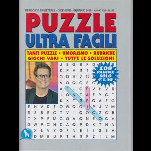 Puzzle ultra facili - n. 85 - bimestrale - dicembre - gennaio 2019  - 100 pagine