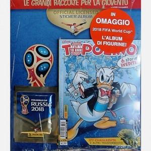 Disney Topolino Topolino N° 3258 + in omaggio 2018 Fifa World Cup l'album delle figurine