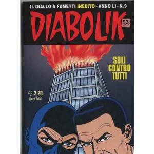 Diabolik Anno 51 - N° 9 - Soli Contro Tutti - Diabolik 2012 Astorina Srl
