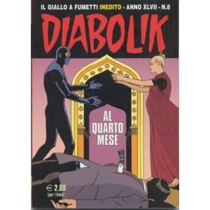 Diabolik Anno 47 - N° 8 - Al Quarto Mese - Diabolik 2008 Astorina Srl