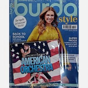 """Burda Style Agosto 2018 + cd """"American orchestra"""""""