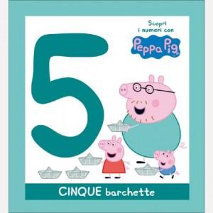 Scopri l'alfabeto con Peppa Pig CINQUE barchette