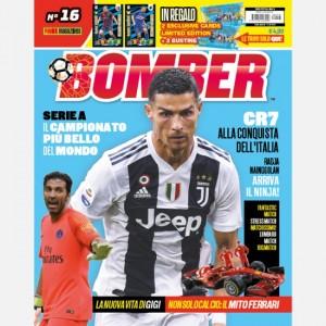 BOMBER - La rivista ufficiale Panini sul calcio Settembre 2018 + 2 Cards Limited Edition (PANDEV Genoa e RAMIREZ Sampdoria) + 2 Bustine Calciatori Adrenalyn XL 2018-2019