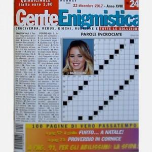 GENTE Enigmistica Uscita N° 24 del 2017 (Anno XVIII)
