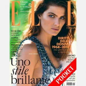 ELLE Italia - mensile -pocket n.3 Marzo 2018+Very Elle accessori-Isabeli Fontana