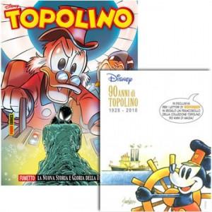Disney Topolino Topolino N° 3233 + Francobollo 90 anni di magia
