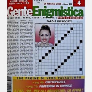 GENTE Enigmistica Uscita N° 04 del 2018 (Anno XIX)