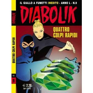 Diabolik Anno 50  - N° 9 - Quattro Colpi Rapidi - Diabolik 2011