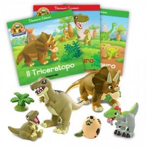 Gli animali della Preistoria - 2a edizione Triceratopo papà - T-Rex figlio