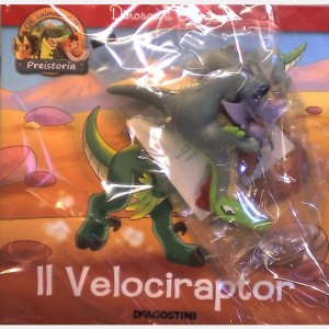 Gli animali della Preistoria - 2a edizione Velociraptor Padre + Pterodattilo figlio