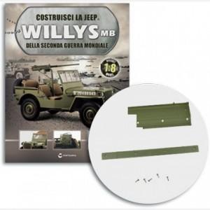 Costruisci la Jeep Willys MB Sponda laterale sinistra, profilo superiore, gancio