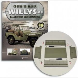 Costruisci la Jeep Willys MB Pavimento rimorchio, cornici catadiottri, catadiottri, viti