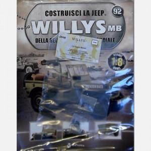 Costruisci la Jeep Willys MB Staffa piccola e grande, connettore a U, piastrina, ammortizzatore, viti