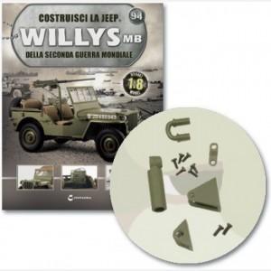 Costruisci la Jeep Willys MB Staffa grande e piccola, connettore a U, piastrina, ammortizzatore, viti