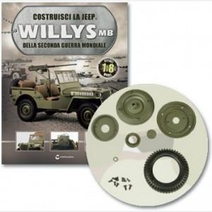 Costruisci la Jeep Willys MB Pneumatico, faccia cerchio, valvola gonfiaggio, coprimozzo, rondella, tamburo, viti