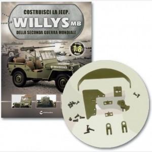Costruisci la Jeep Willys MB Blocco di destra, elementi fissaggio, vassoio, dettagli vassoi, cerniere vassoio