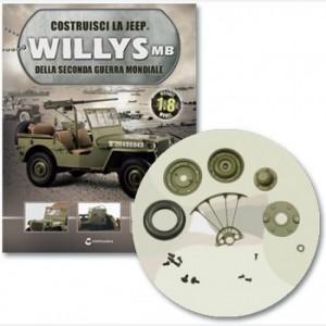 Costruisci la Jeep Willys MB Pneumatico, cerchioni, valvola, distanziale, coperture cerchioni, supporto ruota dx