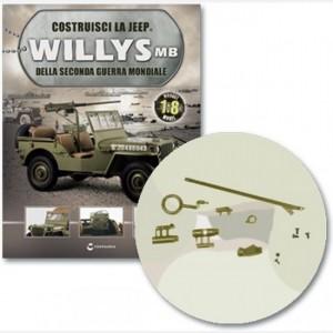 Costruisci la Jeep Willys MB Cerniera gancio dx, gancio vomere e base vomere, copertura gancio, anello, maniglia