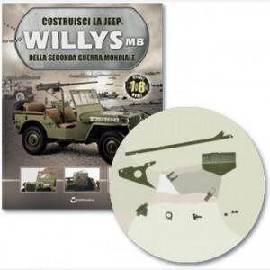 Costruisci la Jeep Willys MB Copertura gancio inf vomere dx, spinotto, telaio vomere sx, anello, fissaggio