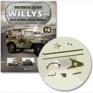 Costruisci la Jeep Willys MB Coda sx con telaio sx e dx, gancio, connessione dx e base, fissaggio, maniglia