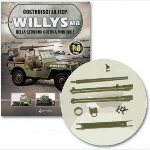 Costruisci la Jeep Willys MB Asse, asse vomere sx, spinotto, gancio telaio inf vomere sx, elementi fissaggio assi