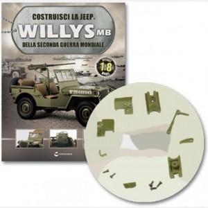 Costruisci la Jeep Willys MB Meccanismo e molla rinculocopertura vite, volantino sx e dx con copertura e telai
