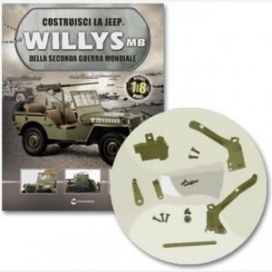 Costruisci la Jeep Willys MB Griglia protezione, supporto ant e post griglia, manicotto protezione, maniglia