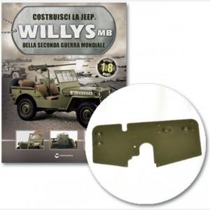 Costruisci la Jeep Willys MB Blocco, asse di supporto sx, asse blocco anteriore, cassetta attrezzi di sinistra