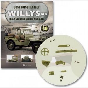 Costruisci la Jeep Willys MB Scudo, copertura e asse, manicotto mobile A e B, asse mobile, telaio di supporto