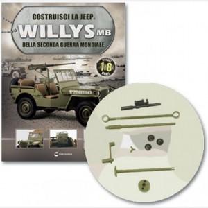 Costruisci la Jeep Willys MB Assale di brandeggio, attacco piattaforma, maniglia volantino di brandeggio e asse