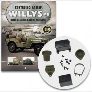 Costruisci la Jeep Willys MB La batteria, il regolatore di tensione e il proiettore schermato