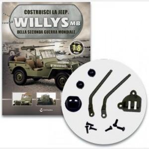 Costruisci la Jeep Willys MB Le leve delle ridotte e dell'inserimento della trazione anteriore