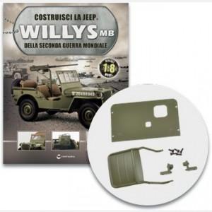 Costruisci la Jeep Willys MB Il telaio, la seduta, le cerniere e le viti del sedile del guidatore