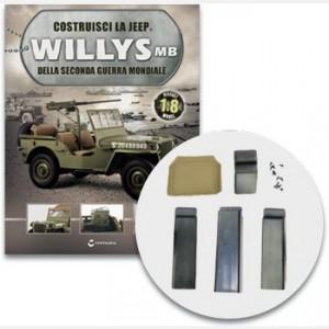 Costruisci la Jeep Willys MB Lo schienale imbottito del sedile del guidatore e i supporti del modello