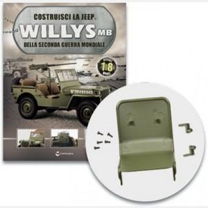 Costruisci la Jeep Willys MB Il sedile del passeggero con le cerniere e le viti