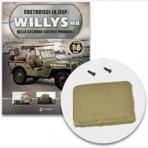Costruisci la Jeep Willys MB Sedile destro (1) e (2), spugna