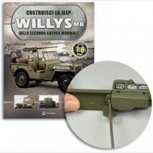Costruisci la Jeep Willys MB Vano portaoggetti e coperchio,Cerniera,Piastra,Pomello, Occhiello chiusura,viti