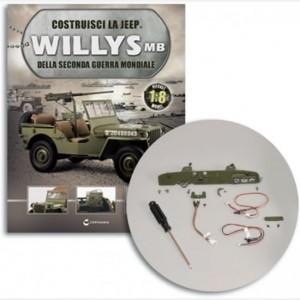 Costruisci la Jeep Willys MB Luci cruscotto,anelli,Interruttori e staffa,viti, Bottone, spia fanali, Freno