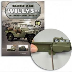 Costruisci la Jeep Willys MB Porta batterie e coperchio,Interruttore e staffa,Terminale posit e negat,vite