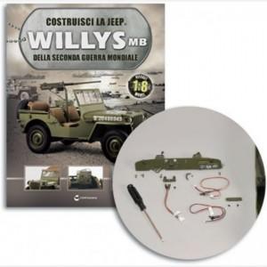 Costruisci la Jeep Willys MB Particolare parafango posteriore sinistro e destro,Coperchio contenitore, viti