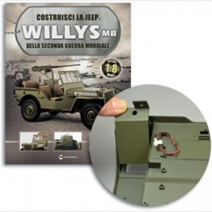 Costruisci la Jeep Willys MB Struttura di rinforzo,Guaina della lama dell'accetta,Staffa poggiapiedi 1-2,vite