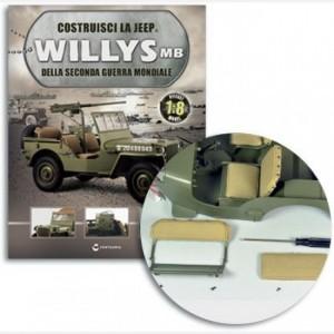 Costruisci la Jeep Willys MB Cuscino sedile posteriore 1, Cuscino sedile posteriore 2, Spugna, viti