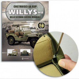 Costruisci la Jeep Willys MB Poggiabraccio sinistro, Poggiabraccio destro, vite