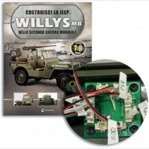 Costruisci la Jeep Willys MB Centralina,Interruttore luci di stop,Fermacavi,Luci poster,Fanali anter,viti