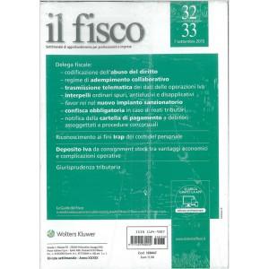 Il Fisco Settimanale n.32/33 7 Settembre 2015