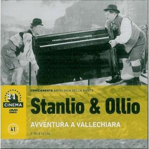 """DVD Stanlio & Ollio Avventura a Vallechiara-24 cinema DVD """" il sole 24 Ore"""