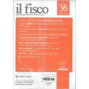 Il Fisco - Settimanale n. 36 28 Settembre 2015