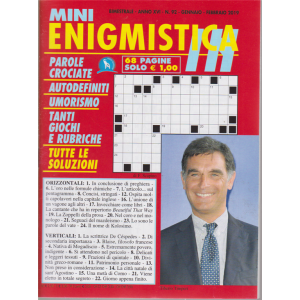 Mini Enigmistica In - n. 92 - bimestrale - gennaio - febbraio 2019 - 68 pagine