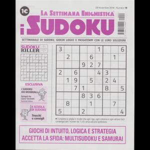 La settimana enigmistica i sudoku - n. 19 - 29 novembre 2018 - settimanale
